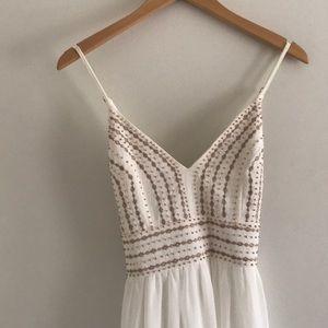 Beautiful white beaded Lulu's maxi dress!